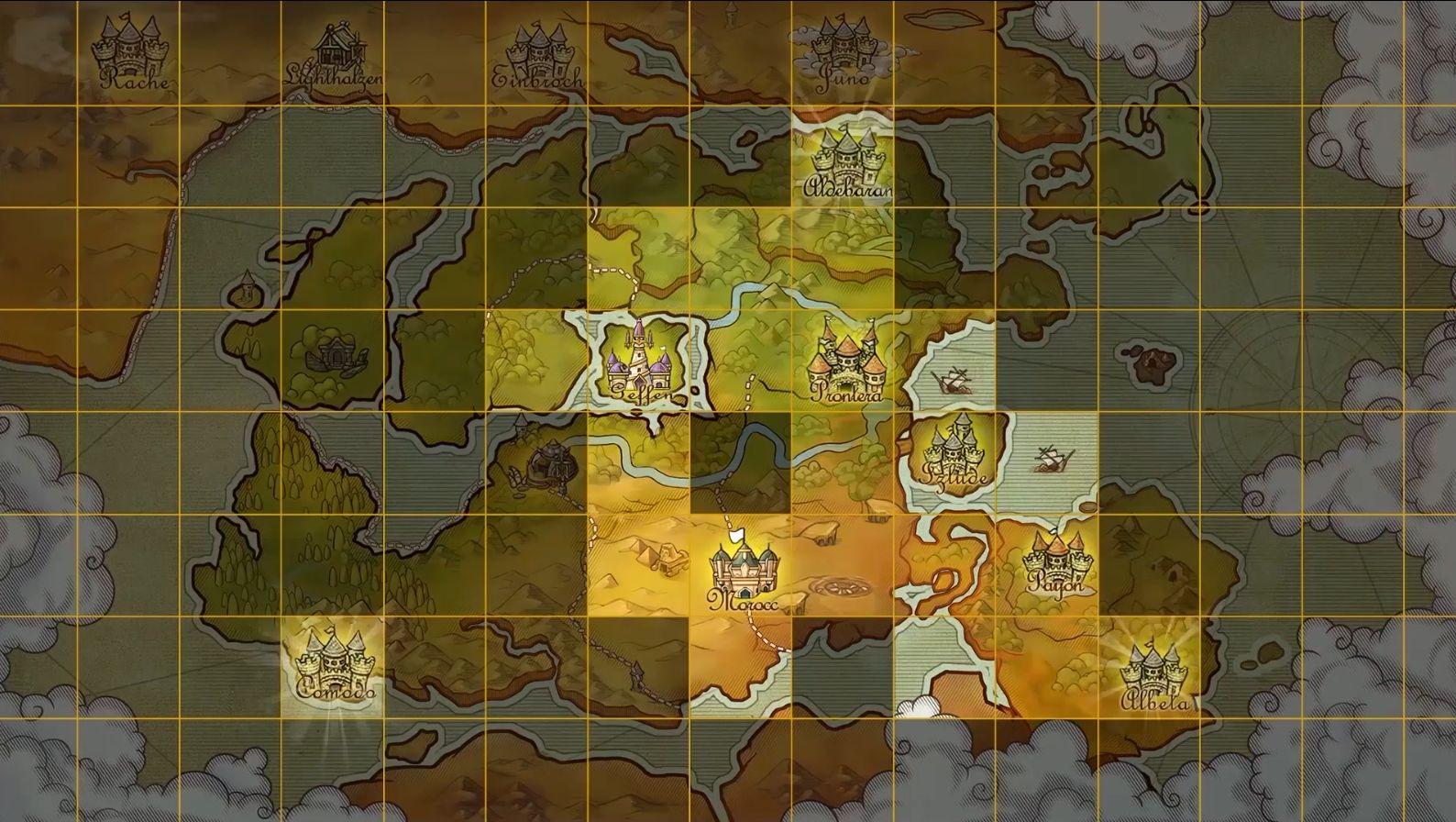 目前已开放地图